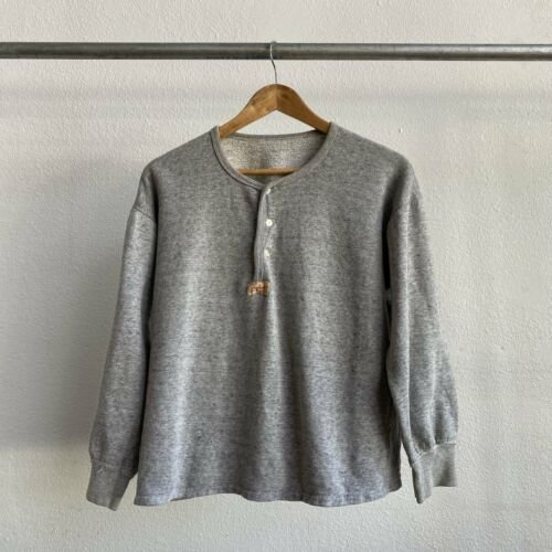 Vintage 1950's Henley Sweatshirt Small Rare