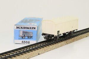 Marklin-4508-h0-wagons-Camion-frigorifique-de-la-DB-blanc-dans-neuf-dans-sa-boite