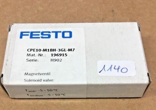 Festo cpe10-m1bh-3gl-m7 196915 válvula de solenoide de 1140//18