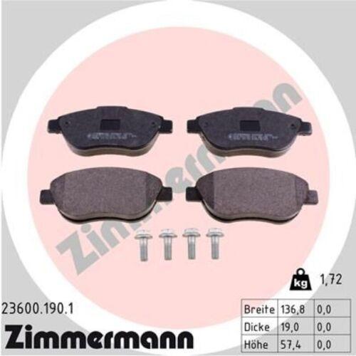 Beläge vorne Peugeot 207 307 Citroen C4 ZIMMERMANN Bremsscheiben Ø283mm
