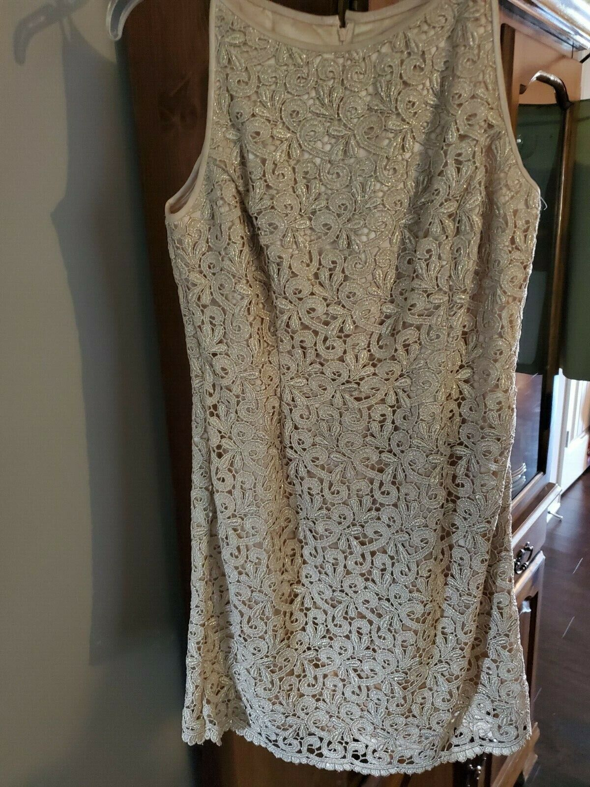 jessica mcclintock Dress Womens Size 8 Gold with … - image 1
