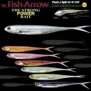 ***Disponible en 7 diff/érents d/écors de leurre Top pour la p/êche verticale sur le sandre. env. 17,5 cm Fish Arrow Flash J Split 7