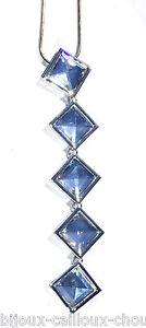 SWAROVSKI-Collier-rhodium-argente-long-pendentif-de-cristal-bijou-necklace