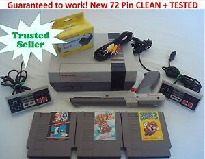 NINTENDO-NES-Console-NEW-PINS-System-Bundle-Game-Lot-Super-Mario-1-2-3-TRILOGY