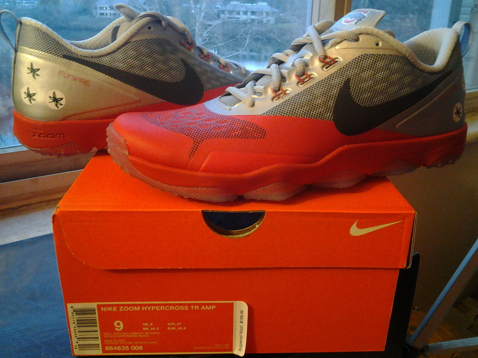 Nike Zoom Air Hypercross TR Amp QS Ohio State OSU Buckeyes lunar free 684635 006 Great discount