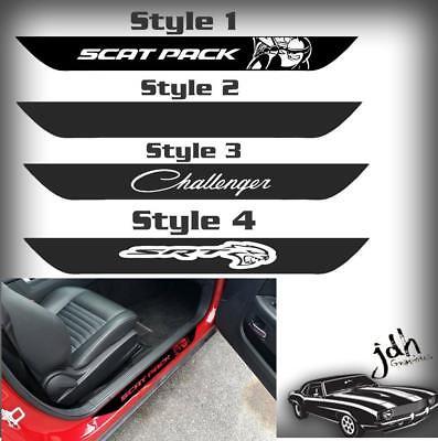 """20/"""" Dodge CHALLENGER HELLCAT Logo Vinyl Door Sill Decals"""