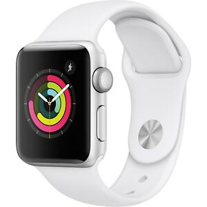 Apple-Watch-Gen-3-Series-3-38mm-Silver-Aluminum-White-Sport-Band-MTEY2LL-A