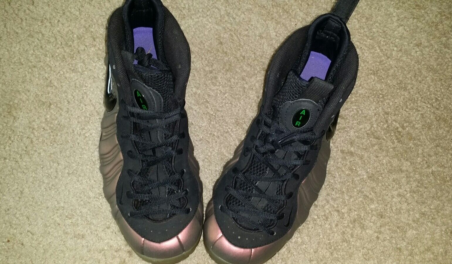Nike Foamposite Pro Size 10 Black Gym Green 624041 302 Great Condition