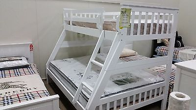 $599 WOW!! WAS $999 BRAND NEW DOUBLE SINGLE HARDWOOD BUNK SET ONLY 3 SETS!