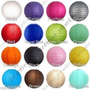 "10X round Chinese paper lanterns lamp 8"",10"",12"",16"",18"", 20"" wedding decor USA"