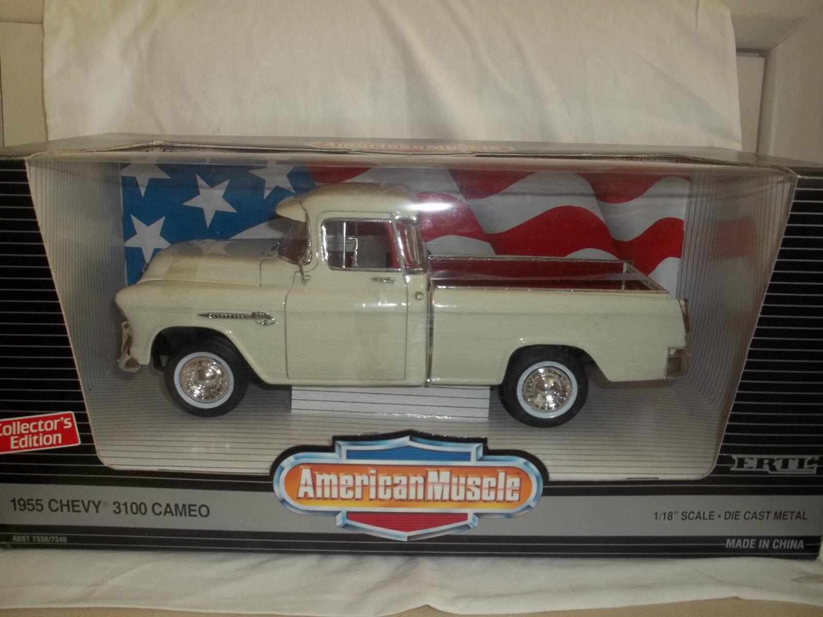 ERTL American Muscle 7336 Chevy Chevy Chevy 3100 Cameo 1 18 Neuwertig & verpackt 2c78b1