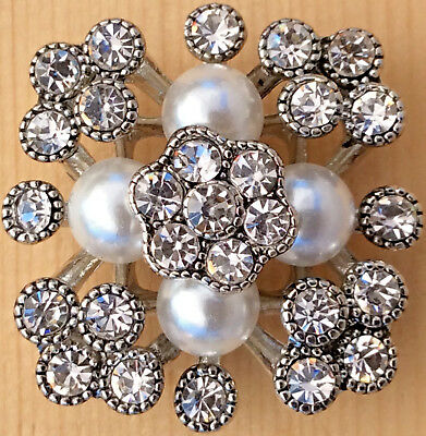 /_Snap.Chunk Button 20mm Pearl Blue Sets Charm For Ginger Snap Style Jewelry