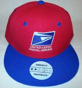 84e264dda39 Image is loading USPS-Embroidered-Baseball-Cap-RED-ROYAL-SNAPBACK-FLATBILL-