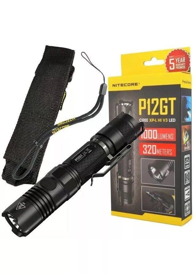 Nitecore P12GT cree XP-L V3 LED Linterna táctica Compacto Hi 1000 lúmenes