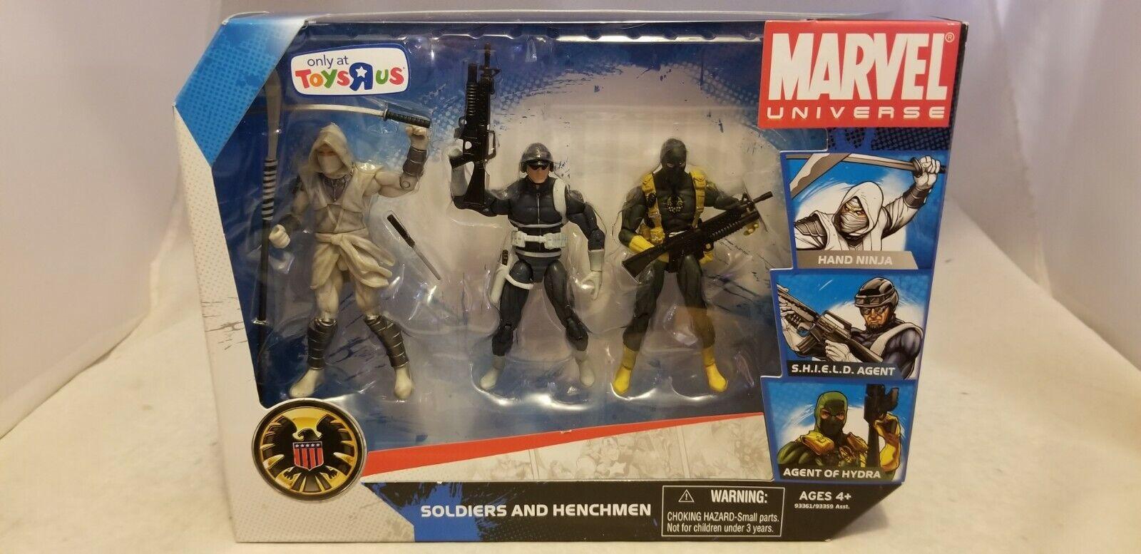 Marvel Universe soldados y secuaces 3.75  Escudo agente, Mano Ninja, Hydra
