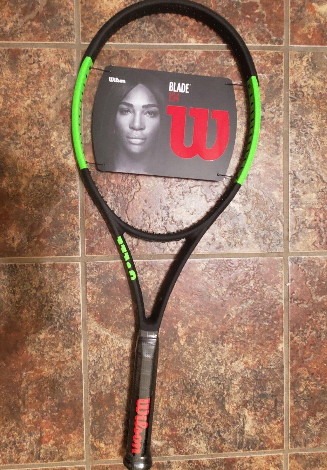 Nuevas Tenis  Wilson Blade 104 18X19 Smart Sensor Listo verde sobre negro 4 1 4 Serena  a precios asequibles