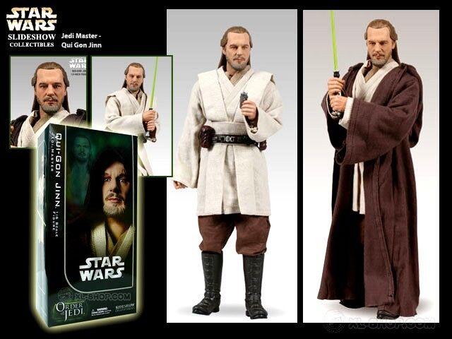 punto de venta de la marca Sideshow Estrella Estrella Estrella Wars Orden de los caballeros Jedi Qui-Gon Yinn Jedi Master 1 6 figura  cómodo