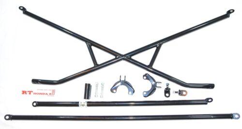 X-Bar+c-Pillar bar+Lower Bar Rear Crossbar 88-91 Honda Civic 3dr Hatchback EF