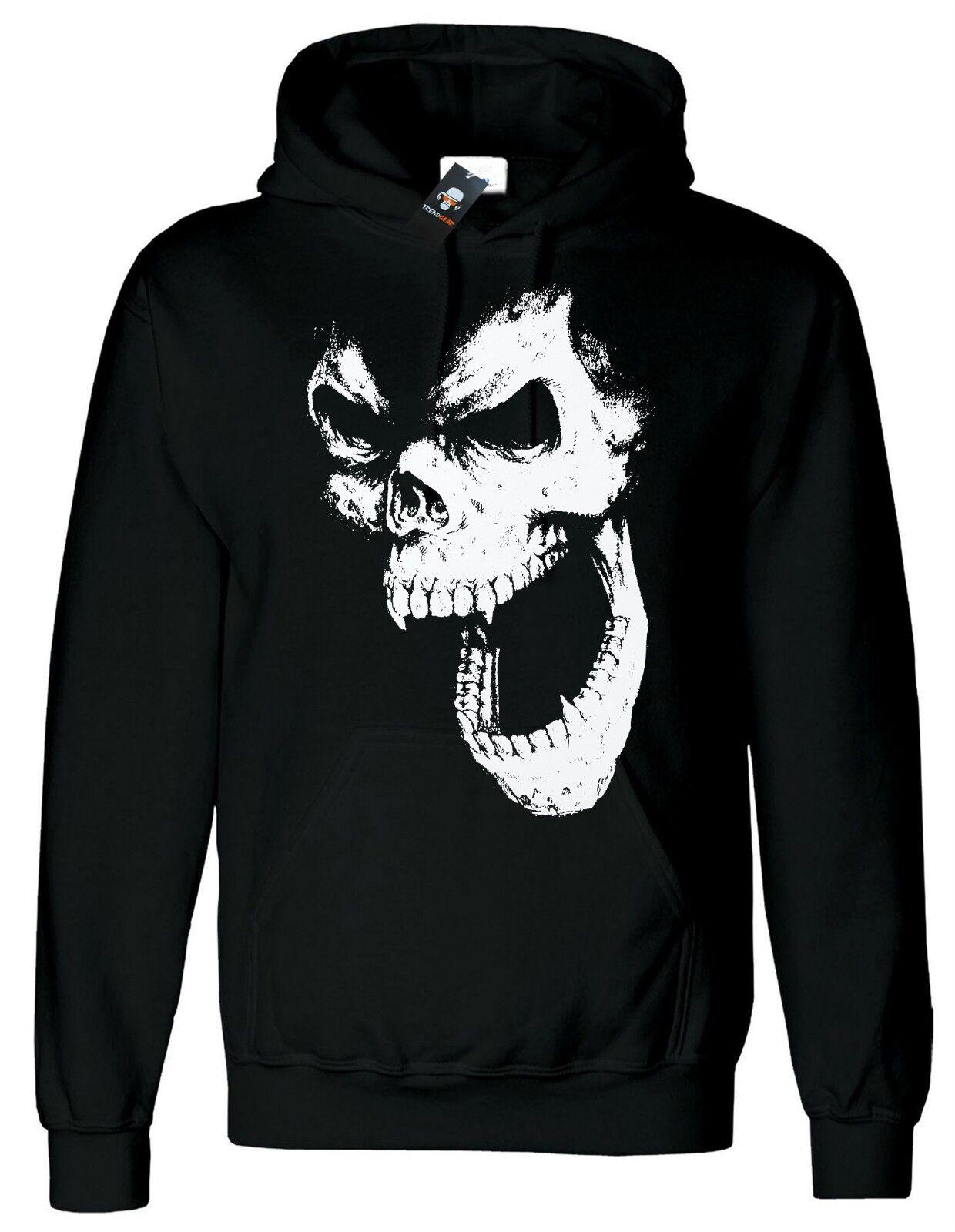 SKULL OUT Hoody Vampire Halloween Gothic Metal Goth Punk Hood Christmas XS-4XL