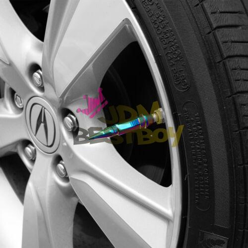 4PCs GunMetal Long Spike Valve Stem Caps Metal Thread Set For Wheel Tires TVC28