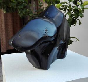 Skulptur-PALAOSAURUS-indischer-Serpentin-Handarbeit-Einzelstueck