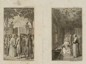 Chodowiecki (1726-1801). clarissens arresto & in prigione; pressione grafico 2
