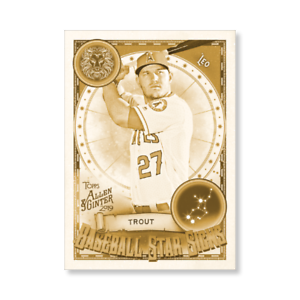 #//10 Made MIKE TROUT 2019 Topps Allen /& Ginter BASEBALL STAR SIGNS 5x7 GOLD