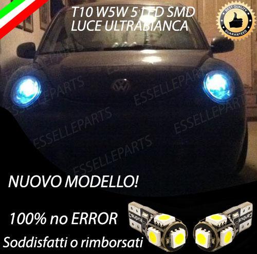 COPPIA LUCI DI POSIZIONE 5 LED VOLKSWAGEN NEW BEETLE CANBUS 100/% NO ERROR