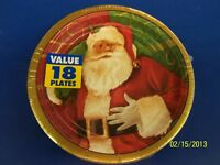 Magic Of Christmas Santa Claus Holiday Banquet Dinner Party 7 Dessert Plates