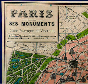 Map Of France Eiffel Tower.Details About Vintage Map Of Paris Poster Print France French Eiffel Tower Champs Elysees