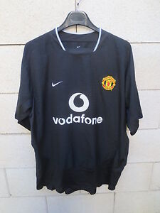 Dettagli su VINTAGE Maillot MANCHESTER UNITED Nike shirt noir away collection football XL