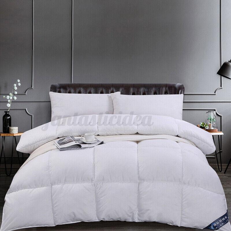 Bettdecke 4 Jahreszeiten Bett Daunendecke Sommer Winter Warm Baumwolle Steppbett