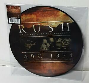 Rush-The-First-American-Broadcast-ABC-1974-Picture-Disc-LP-Vinyl-Record-new