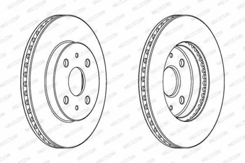 Ferodo DDF1758C Brake Disc Set Coated Front Axle