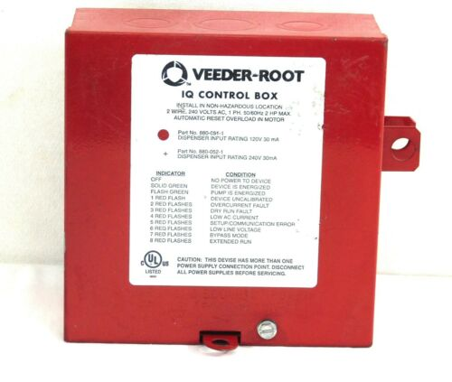 Veeder-Root// Red Jacket PN# 880-051-1 IQ Control Box 120VAC   REMANUFACTURED