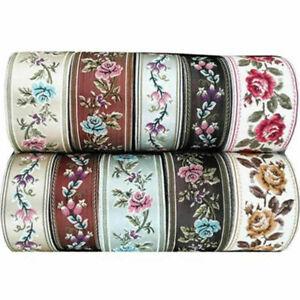 Vintage-Floral-Silk-Embroidery-Crochet-Fringe-Jacquard-Ribbon-Braid-Trim-Crafts