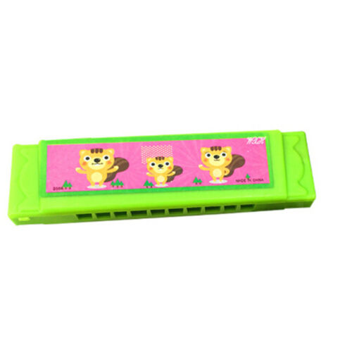 Kids Cartoon Plastic Harmonica Toy Fun Musical Early Educational Gift Toy FJ