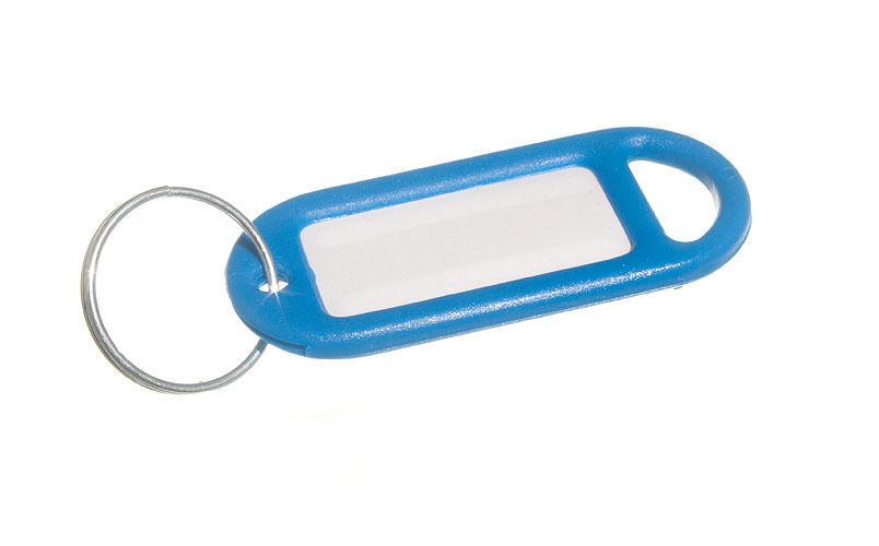 NEU Schlüsselring Etikette 50mm x 20mm mit Label & Split Schlüsselanhänger
