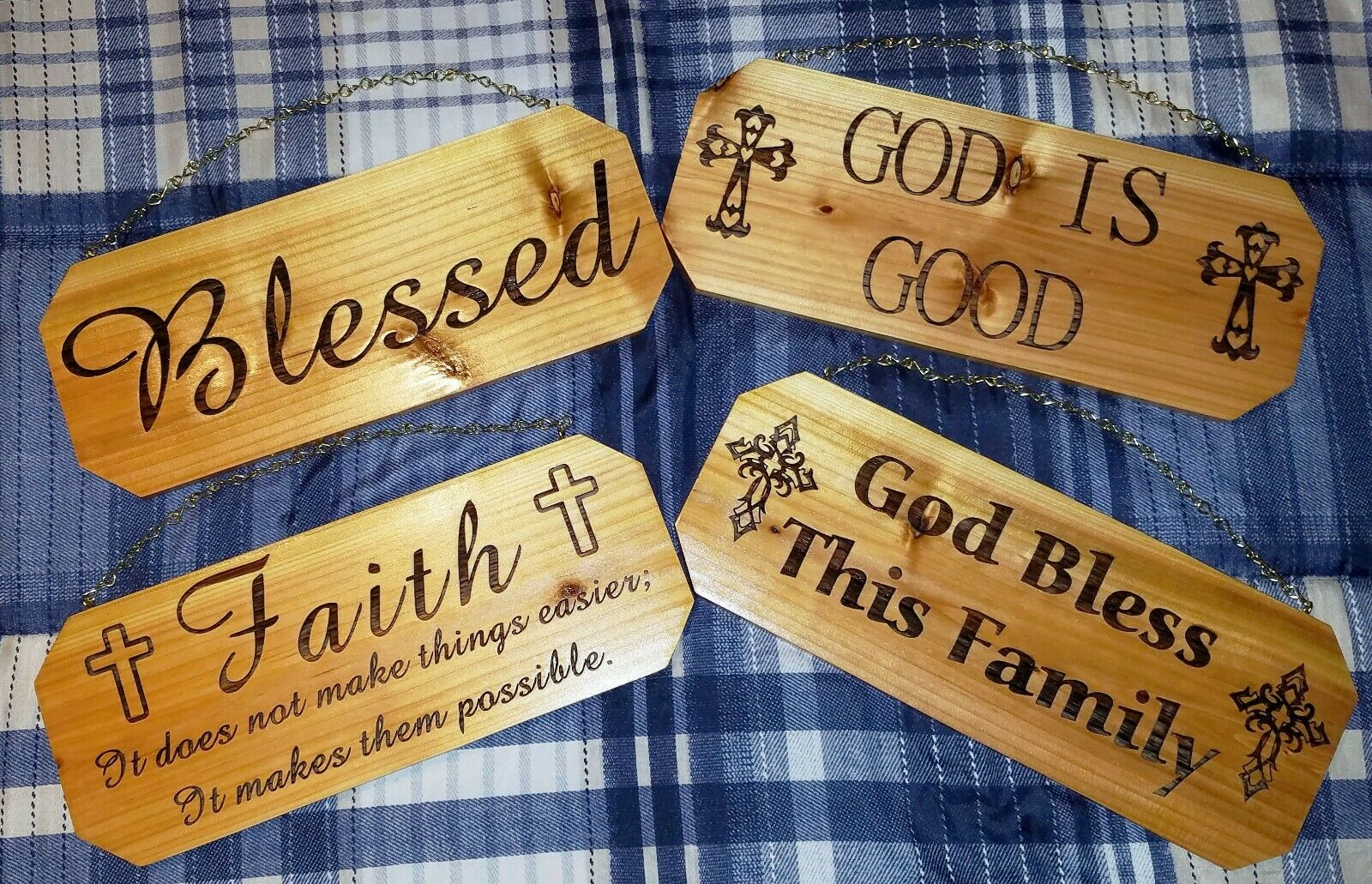 Laser Engraved Cedar Sign Personalized