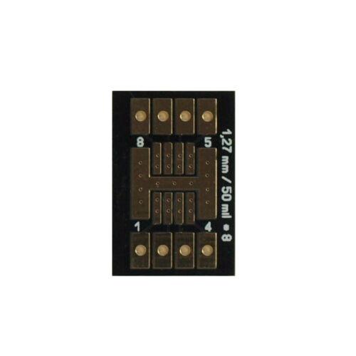 4 PEZZI ADATTATORE PER 1,27mm SOIC PLCC fino a 8 contatti a 2,54mm penna barra