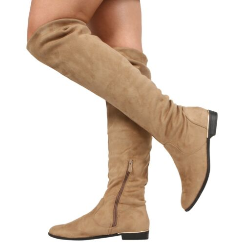 Ladies Clubwear Shoes High Heel Zip Back Over Knee Thigh Long Boots UK Size b053