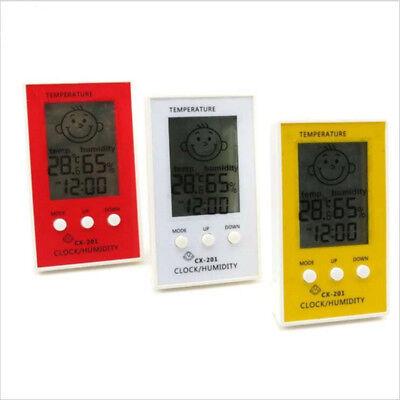 Indoor Outdoor Hygrometer Digital Clock Temperature Logger Humidity Meter WF