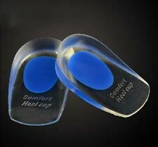 Male Comfort Silicone Gel Care Heel Shoe Cup Inserts Insoles-UK Stock Free Post