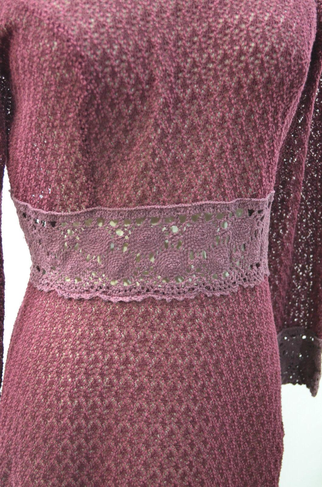 Damzels Doll Factory Women's SZ M M M lace loose crochet Distressed Dress boho  180 03e4dd