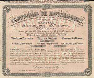 PORTUGAL ROYAL RAILROAD BOND stock certificate 1895