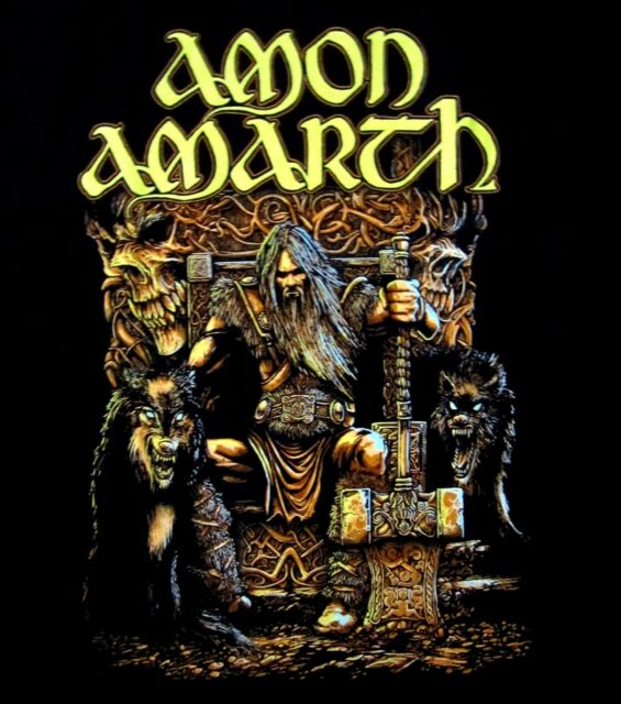 AMON AMARTH cd lgo THOR ODIN ODEN'S SON Official SHIRT SMALL new