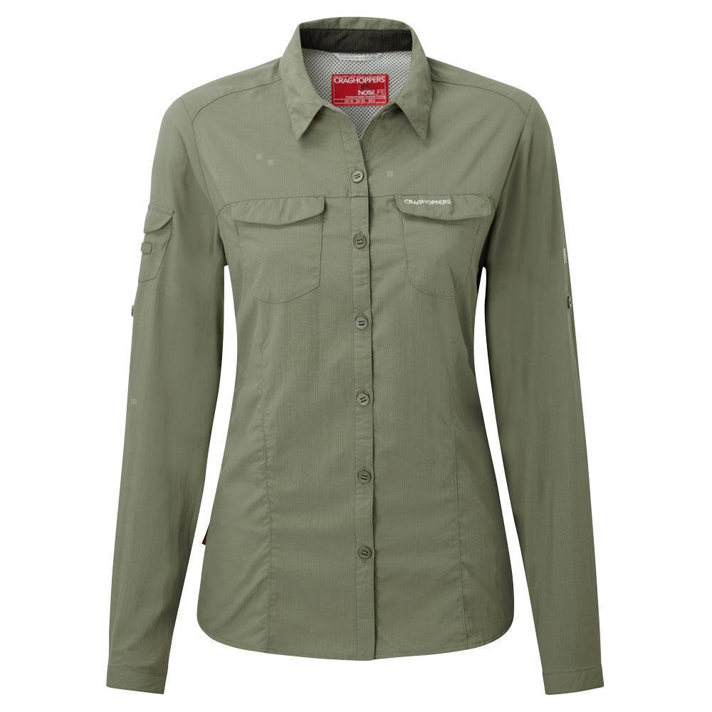 Craghoppers Nosilife Adventure Camicia da donna di permanenti protezione insetti UV UVP