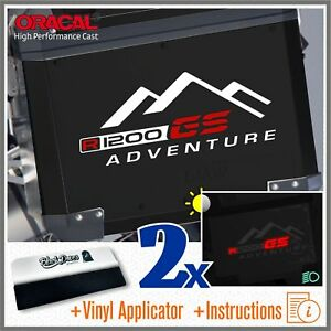 2x-R1200GS-White-Red-Adventure-BMW-Stickers-R1200-GS-Pegatina-Stickers-R-1200
