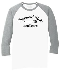 Mens-Mermaid-Hair-Don-039-t-Care-3-4-Triblend-Party