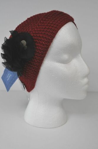 NEW Women/'s Simply VERA WANG~ Red Headwrap Headband with Black MSRP $28
